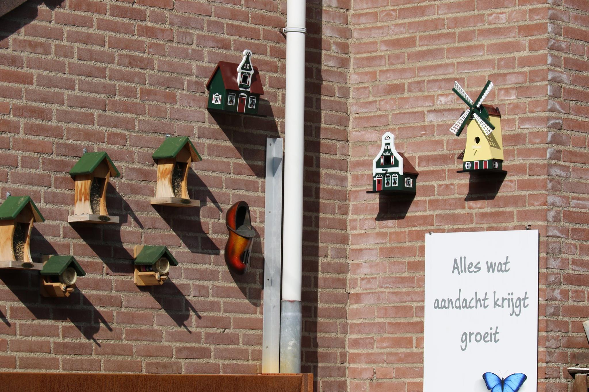 Vogelhuisjes in de openbare ruimte