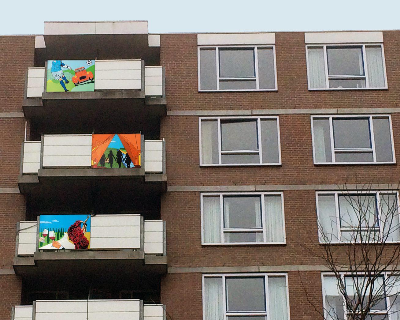 Balkonverhalen geeft identiteit aan bewoner en gebouw.