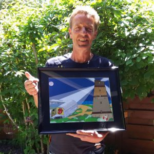 Toon was superblij met het Passieportret dat hij van zijn vrouw heeft gekregen voor zijn 60ste verjaardag!